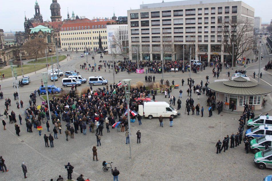 Die Nazi Demonstration von Ittner in Dresden