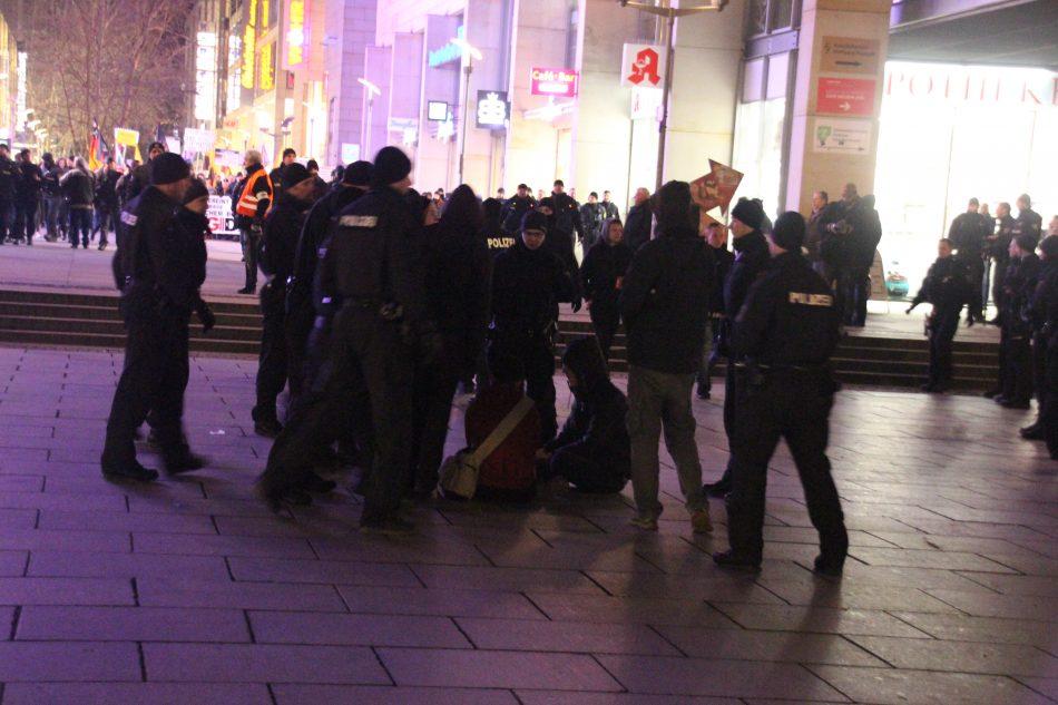 Der Versuch einer Blockade, wurde von der Polizei jedoch unterbunden
