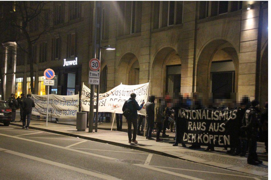 Demonstration gegen Pegida in Dresden