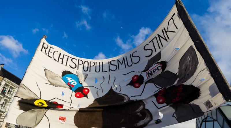 Demonstration gegen die Merkel muss weg Kundgebung in Hamburg