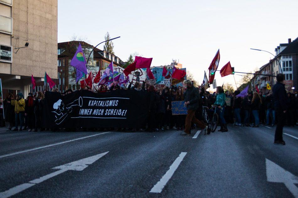 Die 1. Mai Demonstration endete in Wandsbek