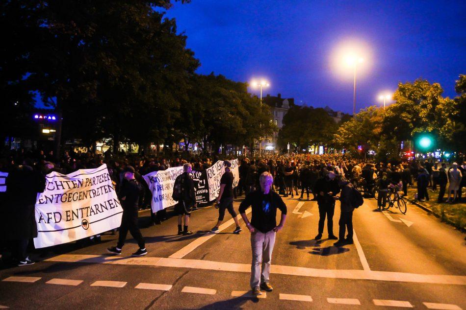 Die Demonstration soll ca. 2600 (Polizei Angaben) Teilnehmer gehabt haben