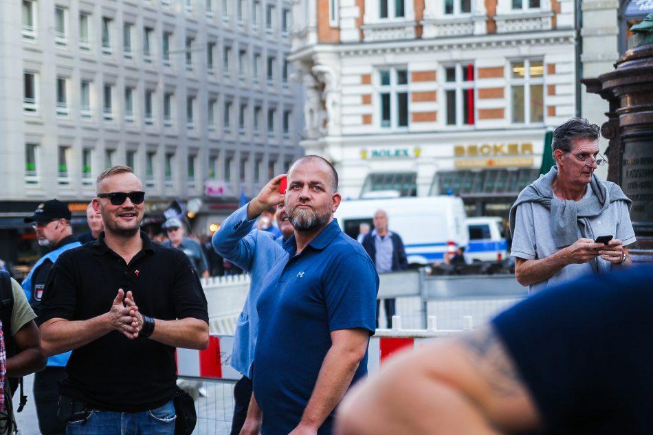Sigfried Däbritz 2. Mann hinter Lutz Bachmann aus Dresden war in Hamburg zu besuch