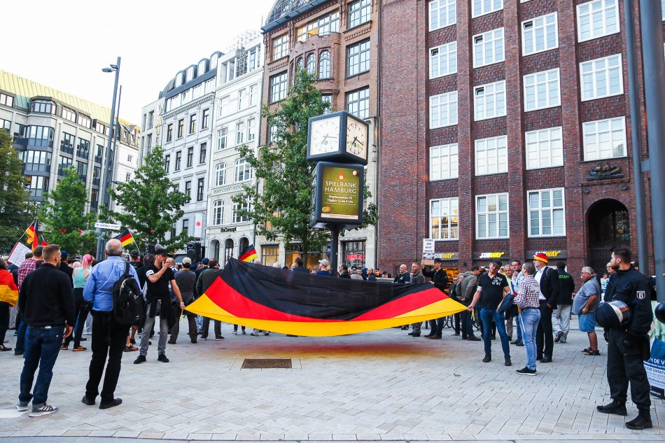 Merkel muss weg Demonstration am 05. September 2018 in Hamburg