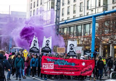 Kein Polizeigesetz Demo in Dresden am 17.11.2018