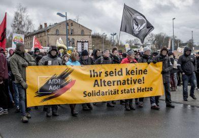 """AfD? Ade!"" – Demonstration gegen den Bundesparteitag der AfD in Riesa."