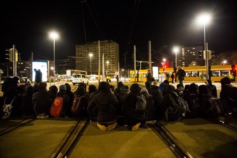 Es ist immer wieder zu Sitzblockaden in der Innenstadt gekommen.