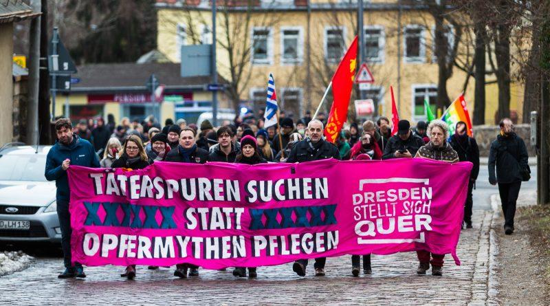 Mahngang Täterspuren 2019 in Dresden
