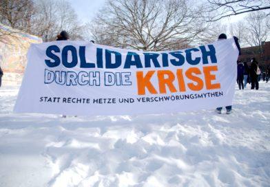 Demonstration gegen Querdenken Kundgebung in Hannover
