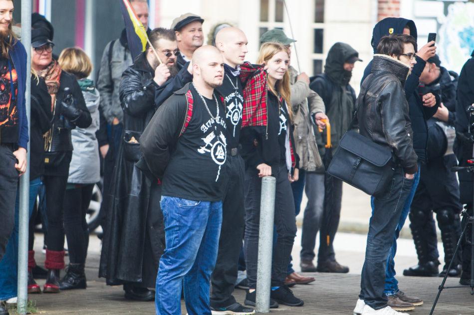 Die Teilnehmer der Michel wach Endlich auf Demo wirkten dieses mal deutlich weniger Bürgerlich