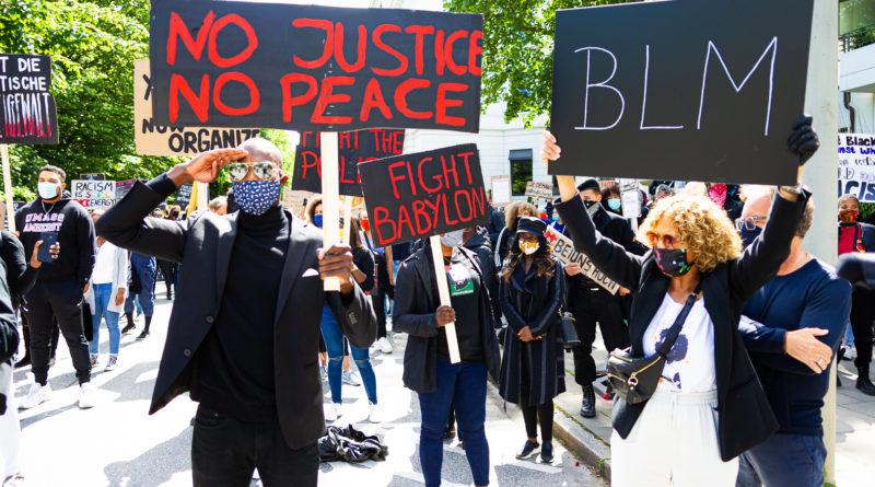 Black lives Matter demo in Hamburg, nach mord an George Floyd