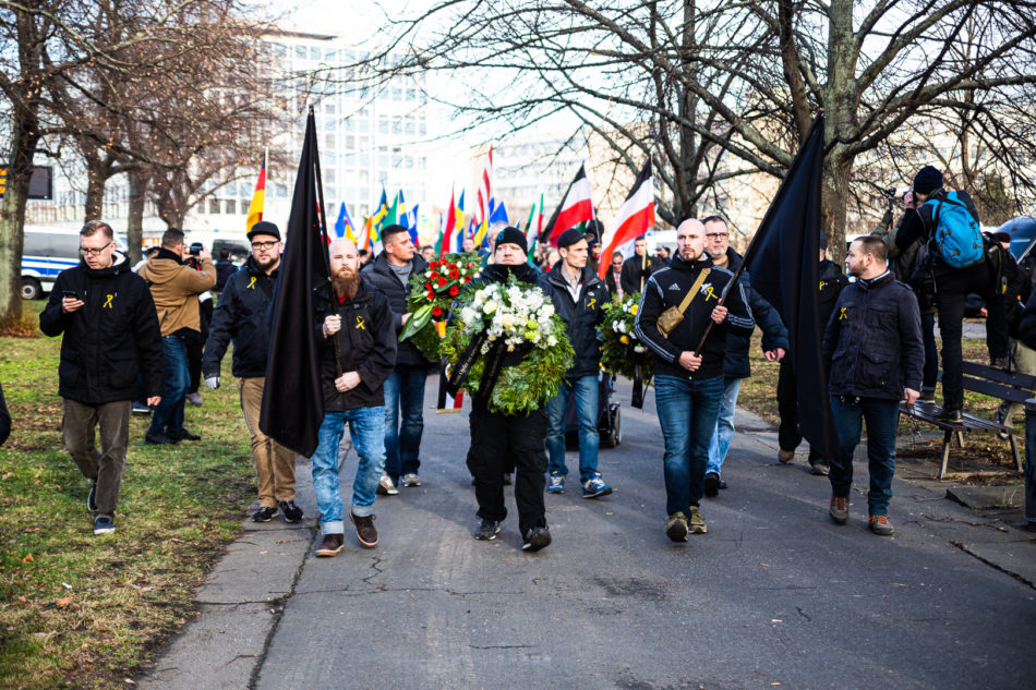 Die Neo-Nazi Demonstration in Dresden am 15. Februar 2020