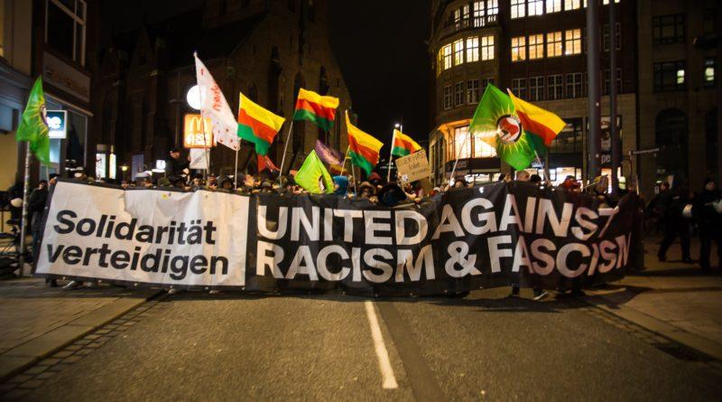 Nach Anschlag in Hanau, Protest in Hamnburg