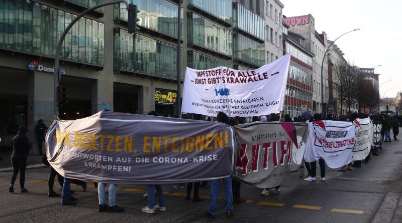 Demonstration für eine solidarische Coronapolitik