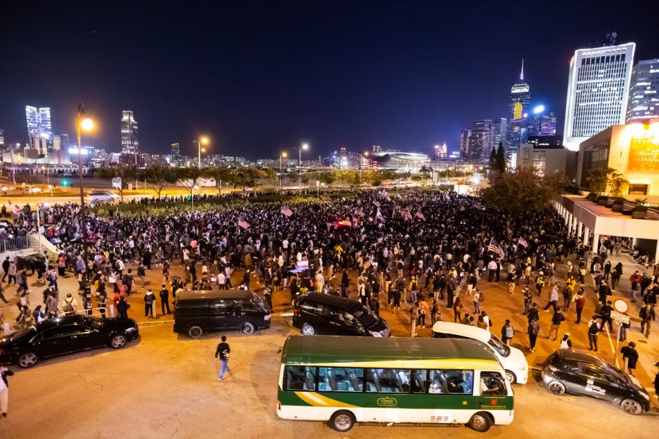 Tausende demonstrieren an Thanksgiving in Hongkong