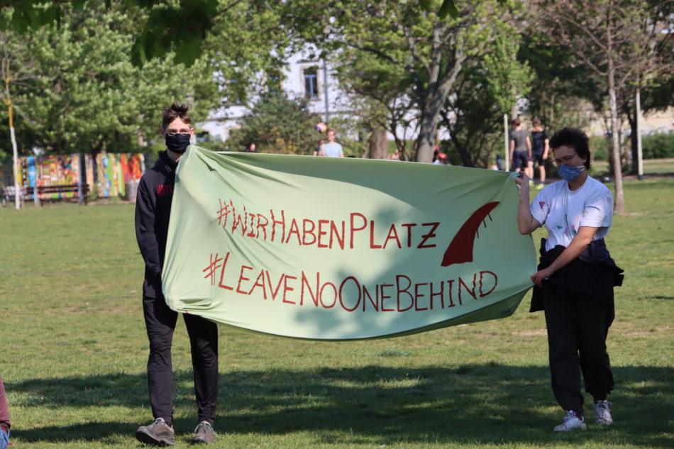 Demonstration der Seebrücke Dresden.