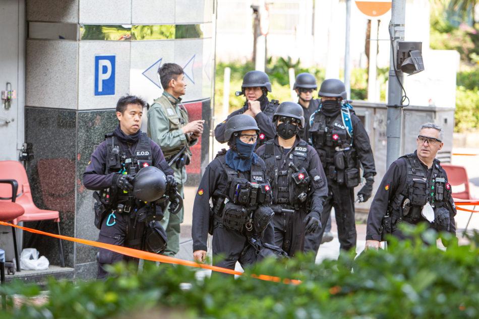Spezialisten zur Bombenentschärfung an der PolyU