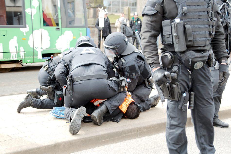 Einer der Organisatoren der Demonstration wurde in Gewahrsam genommen