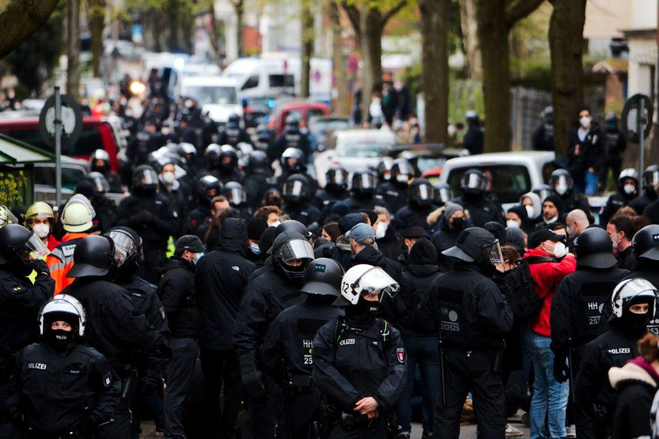 1. Mai Demonstration in Hamburg 2021