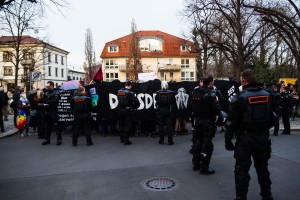 Demonstration in Laubergast