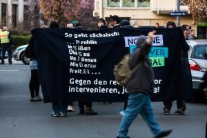 Demonstration in Laubergast