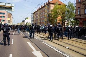 01. Mai 2017 Die Rechte in Halle-12