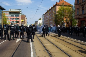 01. Mai 2017 Die Rechte in Halle-13