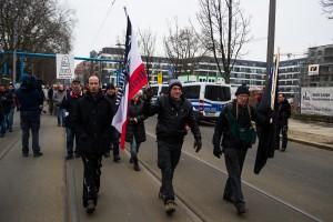 11. Februar Neonazi Demos in Dresden-13