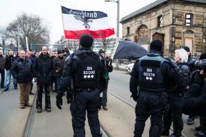 11. Februar Neonazi Demos in Dresden-14
