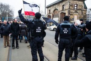11. Februar Neonazi Demos in Dresden-15