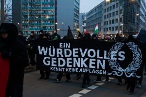 11. Februar Neonazi Demos in Dresden-32