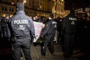 13. Februar 2018 Ausschreitungen bei AFD Veranstaltung in Dresden