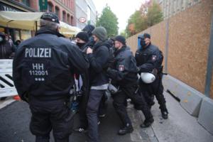 Hamburg Querdenken demo 17 10 2020025