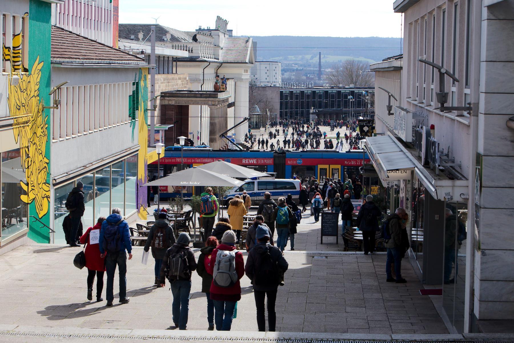 Untersagte Querdenken Demo in Kassel