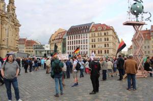 """""""Ohne Islam kein Terror"""" Schild bei der AfD"""