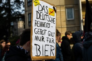 Bildung statt Rassismus Demonstration in Dresden