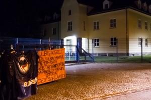 Nope Demonstration am 29. September vor dem Landesamt für Verfassungschutz