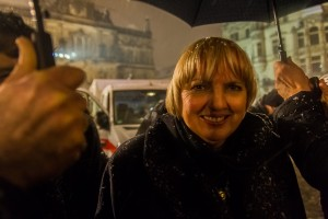 Claudia Roth bei der Gepida Demonstration