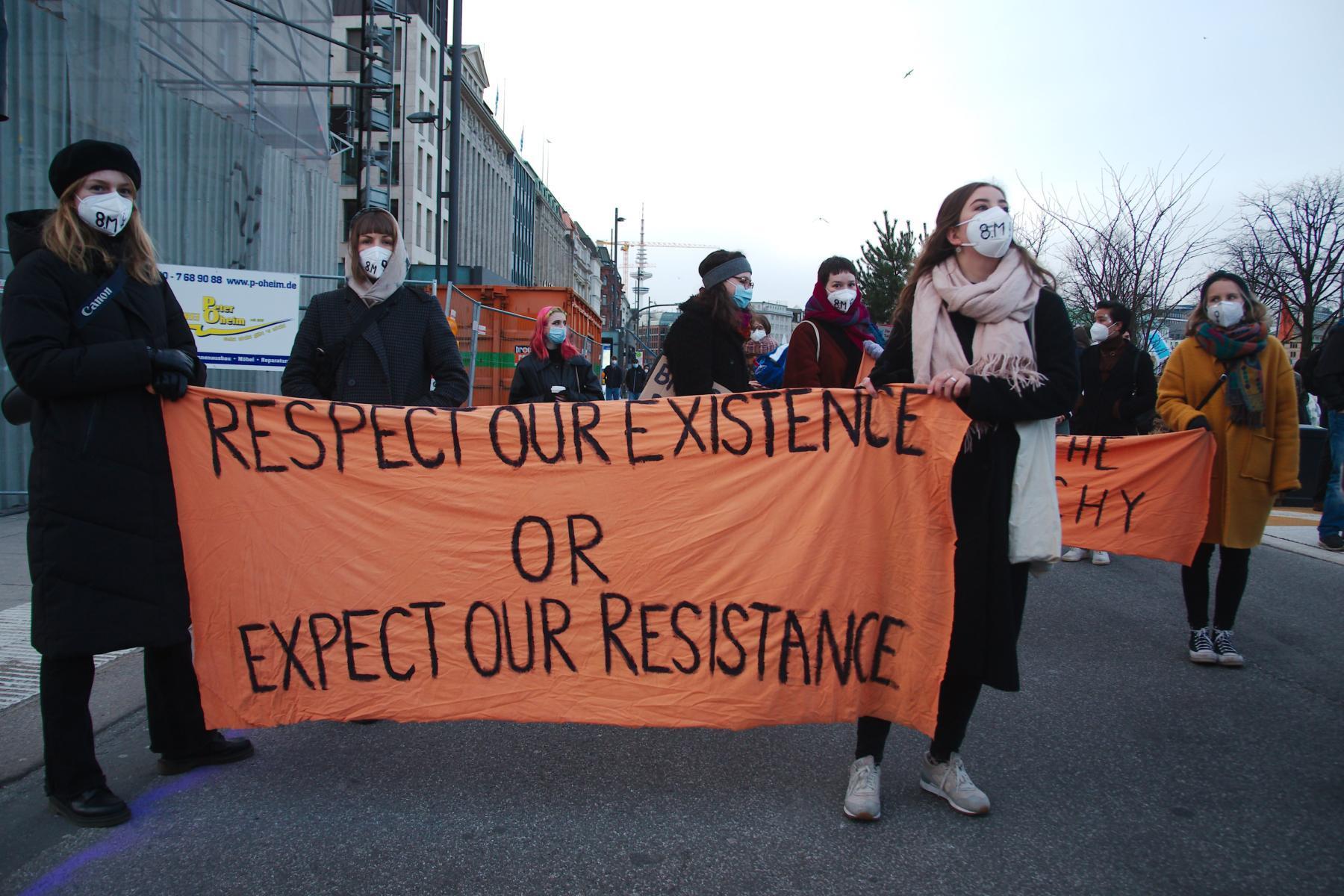 Demonstration zum internationalen Frauenkampftag in Hamburg